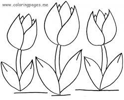 coloring page cool tulip coloring page seven tulips tulip