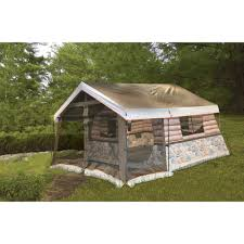 tent cabin timber ridge 8 man log cabin tent ebay