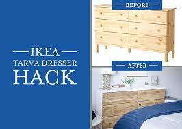 Bedroom Dresser Ikea Diy Bedroom Dresser Ikea Tarva Dresser Hack