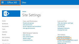 how to create a site as site template in sharepoint online