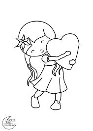 coloriages enfant main coeur