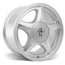 mustang pony wheels pony wheels tire kit 17x9 10 silver 79 93 sumitomo zii
