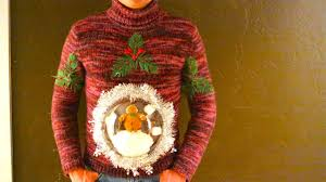 how to make an ugly christmas sweater snow globe youtube