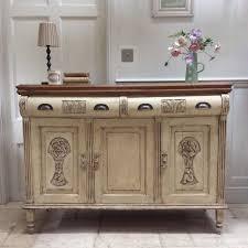 antique painted sideboard cream server cupboard dresser kitchen