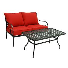 Garden Loveseat Shop Garden Treasures Yorkford 2 Piece Black Steel Patio