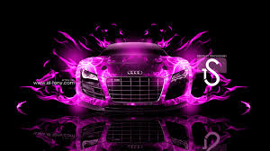 pink audi r8 audi r8 fire car abstract 2013 el tony part 3