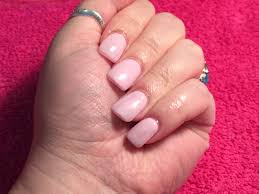 acrylic nails short with gel polish brillbird and thornsbeauty
