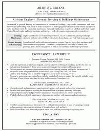 Maintenance Sample Resume Building Engineer Sample Resume