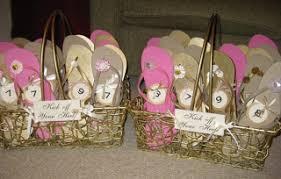 flip flop wedding favors flip flop baskets as wedding favors enchanted florist pasadena
