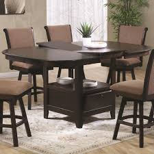 US Furniture Inc  Pub Height Dining Table With - Counter height dining table swivel chairs