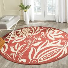 Round Natural Rug by Amazon Com Safavieh Courtyard Collection Cy2961 3707 Red And