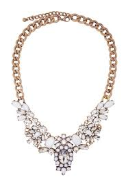 statement necklace white images Buy jaysa collection crystal extravagance white jewels statement jpg