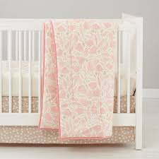 forest themed baby bedding pink the land of nod