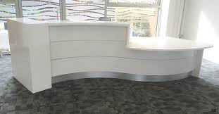 White Reception Desk Image Of Curved Reception Desk Ideas Decorations Office