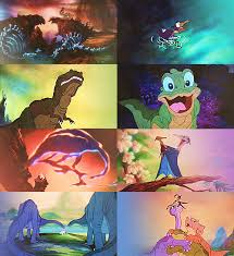 don bluth dinosaurs land foot animated