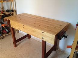 Woodworking Workbench Height by Daniel U0027s Woodworking Bench The Wood Whisperer