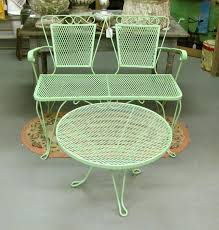 green metal outdoor table old metal lawn furniture reproduction vintage metal patio furniture