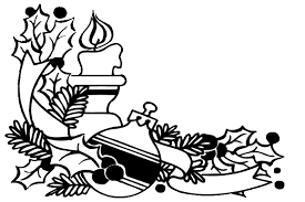 coloring christmas candle coloring pages 4