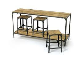Iron Sofa Table by Console Table With Stools Industrial Look Wood U0026 Iron Table