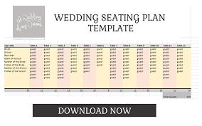 wedding seating plan template u0026 planner free download