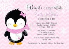 Penguin Baby Shower Decorations Cute Hatching Penguin Baby Shower Invitations Baby Shower