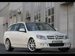 mercedes c class station wagon 2008 brabus mercedes c class station wagon front and side