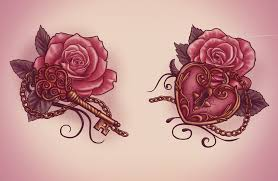 heart lock n key rose tattoo flash in 2017 real photo pictures