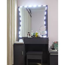 10ft led light mirror lighted makeup vanity mirror with dimmer