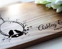 engraved wedding gifts ideas newly engaged gift etsy