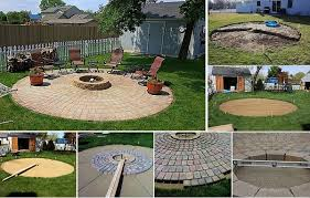 Firepit Bricks Diy Pit Patio Project Home Design Garden Architecture