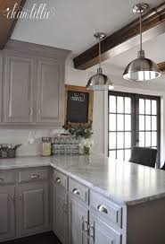 Kitchen Cabinet Makeovers - hickory wood autumn shaker door diy kitchen cabinet makeover