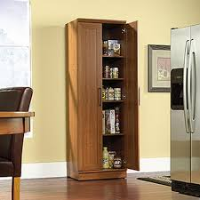 Sauder Bookcase With Glass Doors by Sauder Home Plus Sienna Oak Storage Cabinet 411963 The Home Depot