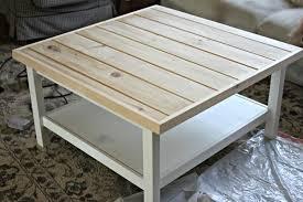 hemnes ikea hack square white hemnes ikea coffee table with shelf storage decofurnish
