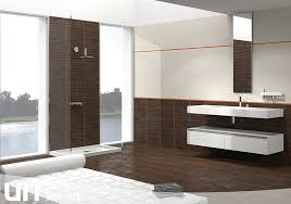 Plain Bathrooms Trendy And Avant Garde Ceramic Tiles Giving Vividness To Your