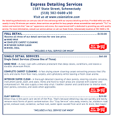 colonial car wash express detailing we treat you right car