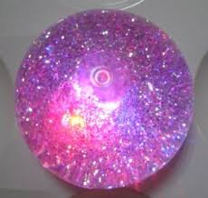 60mm glitter bouncing with liquid and led inside buy