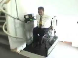 wheelchair lift made by garaventa inclined platform lift youtube