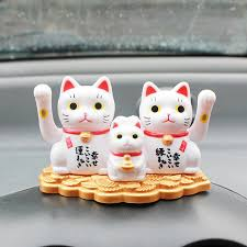 car ornaments abs lucky cat automobile interior dashboard decoration