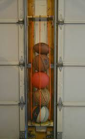 diy sports ball holder garage doors organizing and doors