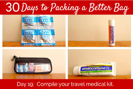 travel medicine images Day 19 the essential travel medical kit her packing list png