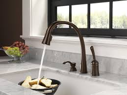 touch technology kitchen faucet delta 980t rbsd dst pilar single handle pull kitchen faucet