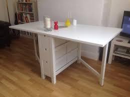 ikea norden gateleg white table in headingley west yorkshire