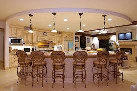 large kitchen ideas inspiring large kitchen ideas with pendant ls and rattan chairs