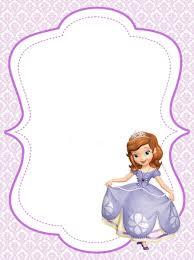 Princess Invitation Card Princess Sofia Printable On Pinterest Recherche Google