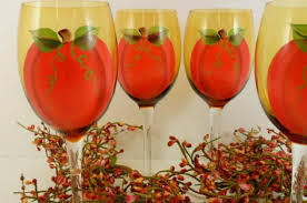 colors from 6 fall wine glasses for thanksgiving slideshow