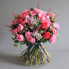 flower delivery london luxury pink cerise bouquet london same day flower delivery