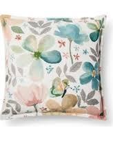 Threshold Aqua Peach Birds Floral Great Deals On Threshold Decorative Pillows