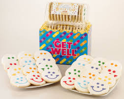 get well soon basket get well cookie gift baskets smiley cookie get well gifts