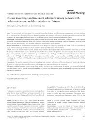 disease knowledge and treatment adherence among patients with