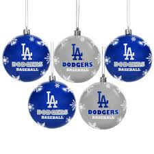 Cheap Christmas Decorations Los Angeles by Los Angeles Dodgers Holiday Decorations Ornaments Stockings